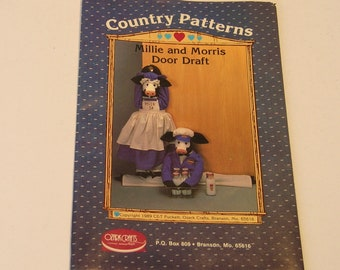 Country Patterns, Millie and Morris, Door Draft Stoppers, Cow Dolls, Vintage Craft Pattern, Uncut