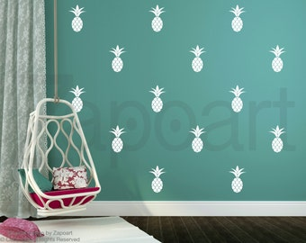 Pineapple Wall Decal / Home decor / Party Decor / Nursery Wall Decal