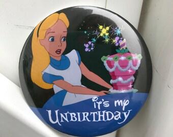 Unbirthday Disney button