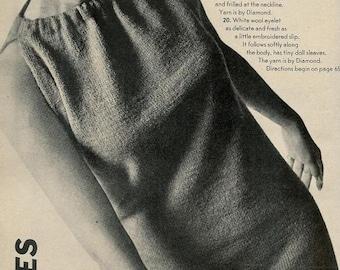 Vogue Knitting 1966 Halter Dress Vintage Pattern Retro Mod Mad Men