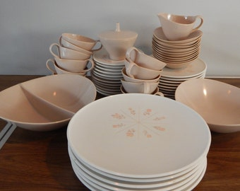 Fostoria Set of (53) Melmac Melamine Rose Pattern