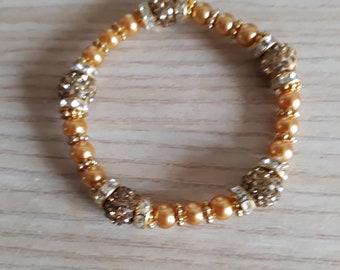 Yellow sparkle bracelet