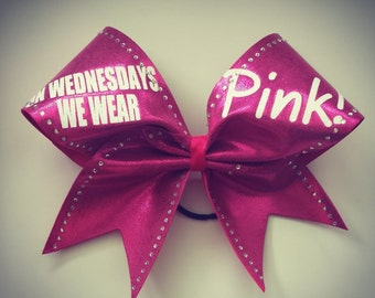 SALE On Wednesdays we wear pink cheer bow