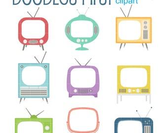 retro clip art set etsy rh etsy com Fabulous 50s Clip Art 1950s Large Clip Art Borders