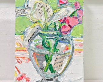 Flower Language original still life painting by Polly Jones