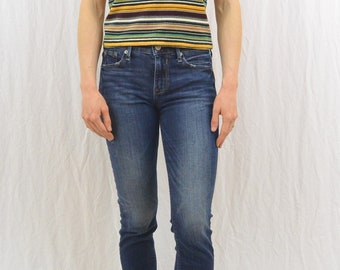 Vintage Striped Shirt, 90's Clothing, Size XS-Small, Grunge, Hipster, The Limited, Tumblr Clothing