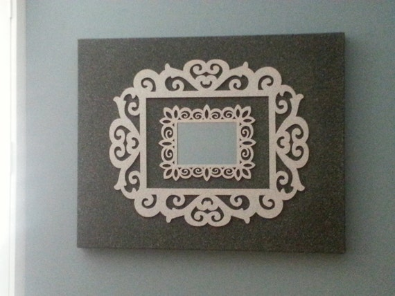 Canvas, double frame, and mirror art wall decor