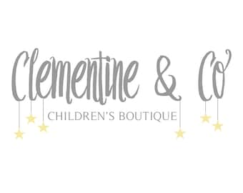 Pre-Made Logo Ready to Add Your Company Name - Style: Clementine & Co - 3 Choice of Colours