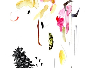ink flowers, giclée print