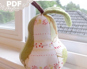 PDF Pear Pincushion Ornament Toy Tutorial