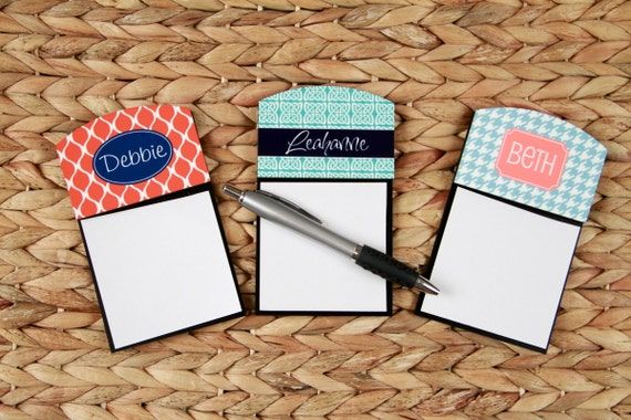Coworker Gifts Sticky Note Holder Office Accessories Teacher Gift Monogrammed Personalized Desk Co-Worker Gift Office Decor New Job Gift
