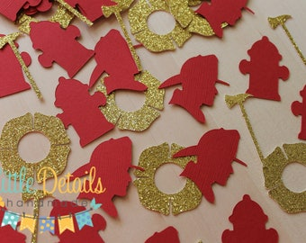 Fireman Table Confetti, Firefighter Confetti, Firefighter Birthday, Fireman Party