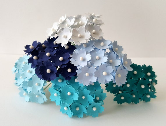 Turqoise paper flowers teal paper flowers small paper flowers turqoise paper flowers teal paper flowers small paper flowers 10mm paper flowers flowers with stems dark blue paper flowers from happytidings1 on mightylinksfo Choice Image