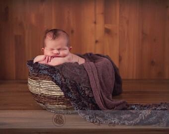 Newborn Basket Digital Backdrop
