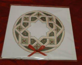 Mandala Christmas Card - Persian Star