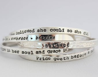 she has fire in her soul • custom bracelet • personalized jewelry • inspirational quote • cuff bracelet • gift for her • quote jewelry