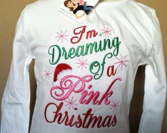 Personalized I'm Dreaming of a Pink Christmas Shirt
