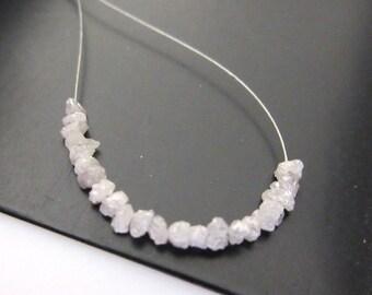 1.00CTW Tiny 2mm To 3mm White Raw Rough Uncut Diamonds, Natural White Uncut Diamond Beads, DDS402/2