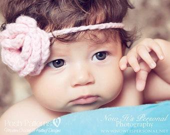 Crochet PATTERN - Flower Crochet Pattern - Crochet Headband Pattern - Crochet Patterns for Babies - Crochet Patterns Kids - PDF 107