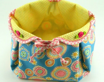 Huge Sale ... Fabric Basket PDF Sewing Pattern Tutorial ... with different variations included