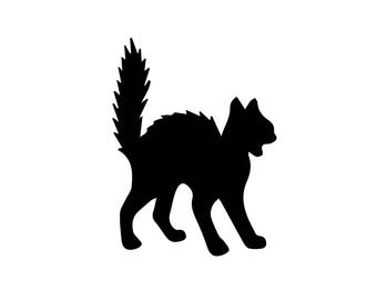 scared cat decal, cute cat car decal, cat vinyl decal, girly car sticker, yeti tumbler, feline, kitty, crazy cat lady, animal lover, rescue