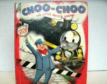 Choo-Choo The Little Switch Engine, Rand McNally Elf Book, 1950s Vintage Children's Book, 1954, Vintage Illustrations, Vintage Ephemera