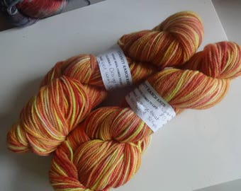 Orange Blast, 329yds, 100% wool DK light Worsted