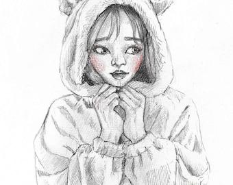 Teddy Girl - Print