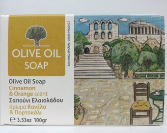 greek olive oil soap cinamon