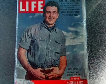 Rock Hudson, Hollywood's Most Handsome Bachelor Life Magazine 10/3/55