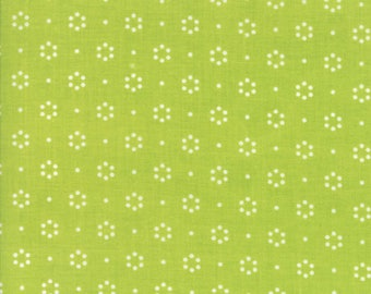 The Good Life Green Dot, 55152 14 by Bonnie & Camille of Moda Fabric, Sold by the Half Yard