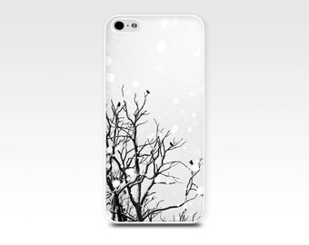 birds iphone case 5s iphone 6 case black and white birds iphone case 4s flying birds in a tree iphone 5 case fine art iphone 4 case winter