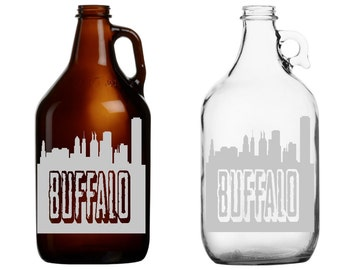 Buffalo Skyline 64oz Beer Growler