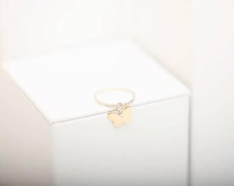 Butterfly Charm Ring • Gold Butterfly Ring • Charm Ring • Gold Filled Charm Ring • Butterfly Ring • Midi Ring • Charm Rings •
