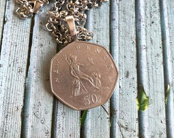 Necklace with Vintage English mint