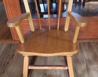 Delightful Childrenu0027s Kids Wooden Rocking Chair