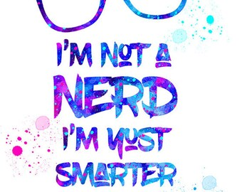Damon Salvatore or I'm not a Nerd A5 Greetings Cards