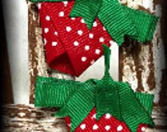 Strawberry Ribbon Sculpture Hair Clip