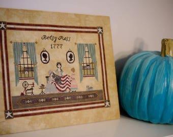 Betsy Ross cross stitch pattern (Hard-copy)