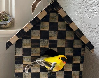Custom Boxes, all shapes, all sizes. Decorative bird houses. Textile covered boxes and notebooks. I will also create what you choose.