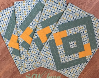 Handmade Placemats Set of 4, quilted Placemats, tabledeco