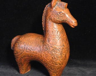 Bitossi style vintage ceramic horse--unsigned but period