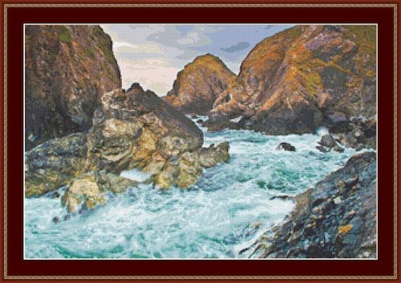 Cornish Coastline Cross Stitch Pattern /Digital PDF Files /Instant downloadable