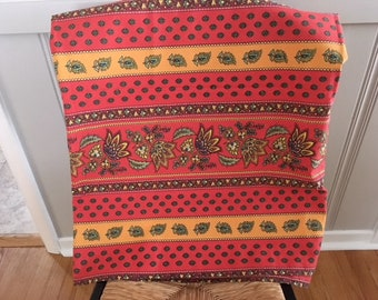 Vintage/new 100% cotton Mud Cloth made in India in orange/green/gold