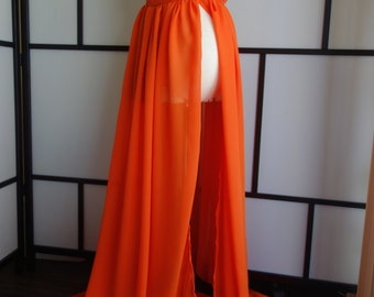 Vic orange maternity dress,Sheer maternity gown,chiffon maternity dress,modeling,senior prop,maternity pros