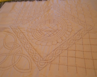 """15"""" x 15"""" quilt block for you to finish"""