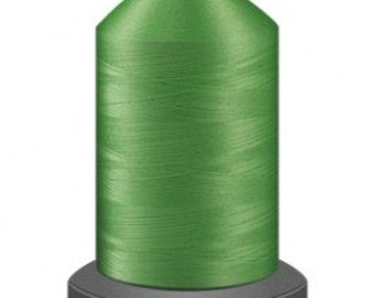 Lime green  thread, quilting thread, sewing machine thread, glide thread, sewing thread, 1000m cone, Key Lime thread, polyester thread