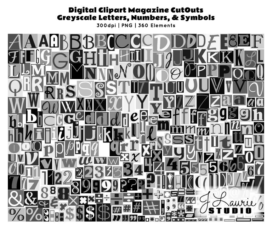 Digital magazine cutout alphabet ransom note zoom spiritdancerdesigns Choice Image