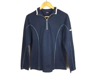 ELLESSE Ladies Sweatshirt Large Size Sweatshirt Neck Zipper