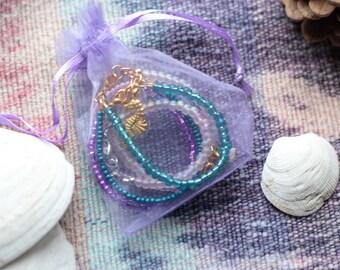 Keepsake Baby Gift, First Birthday, Flower Girl Gift, Baby Girl Bracelet, Seed Bead Bracelet, Cake Smash Photo, Big Sister Gift